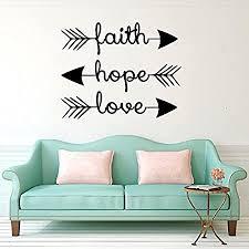 stonges wandtattoos glaube hoffnung liebe familie wand zitate bibelverse pfeil kunst wandmalerei psalmen vinyl aufkleber schlafzimmer wohnzimmer dekor