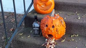 Puking Pumpkin Pattern by Lol This Is One Puking Drunk Pumpkin With His Jack Daiels Whiskey