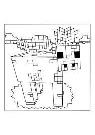 Cow And Mooshroom Minecraft Coloring Pages