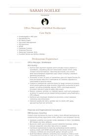Office Manager Bookkeeper Resume Example
