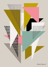 Interesting Color Scheme And Overlaps Simple Shapes Open Edition Giclee Print By EloiseRenouf