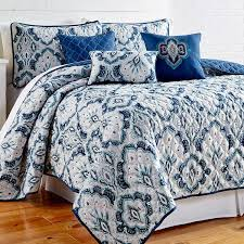 Amraupur Overseas Shane Printed Blue Paisley Reversible 6 piece