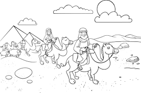 Click To See Printable Version Of Abram Sarai Leaving Egypt Coloring Page