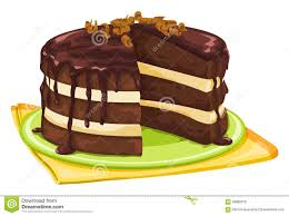 chocolate cake clipart slice cake – pencil and in color chocolate