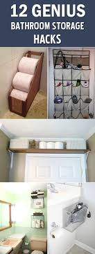 12 Genius Bathroom Storage Hacks Elegant Storage For Small Bathroom Spaces About Home Decor Ideas Diy Towel Storage Fniture Clever Bathroom Ideas Victoriaplumcom 16 Epic Master Cabinet Aricherlife Tower Little Pink Designs 18 Genius 43 Minimalist Organization Deocom Rustic 17 Brilliant Over The Toilet Easy Hack Wartakunet