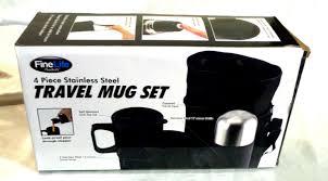 food kitchen storage 4 travel mug set