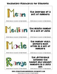 mode median and range this is a freebie from my median mode and range pack