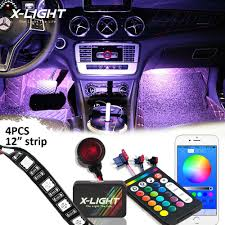 100 Led Interior Lights For Trucks 4pc LED Full 18 Color Inside Footwell Dash Neon Glow Car