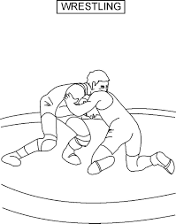 Wrestling Coloring Pictures Inside Free Pages