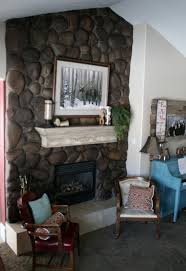 Rock Fireplace Makeover