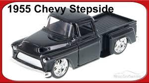 1955 Chevy Stepside Pickup Truck Black - Jada Toys 1/32 Scale ...