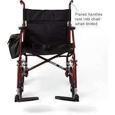 Medline Transport Chair Instructions by Medline Basic Transport Chair Portable Walmart Com