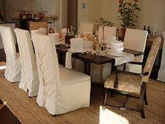 Dining Room Chair Slipcovers Also Table Long Cloth Covers