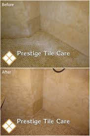 cleaning soap scum and recaulking limestone shower seattle tile