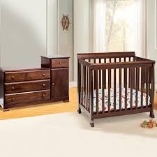 Davinci Kalani Combo Dresser Hutch Espresso by Da Vinci 2 Piece Nursery Set Kalani Mini Crib And Combo Changer