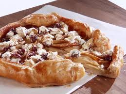 Apple Galette With Goat Cheese Sour Cherry And Almond Topping