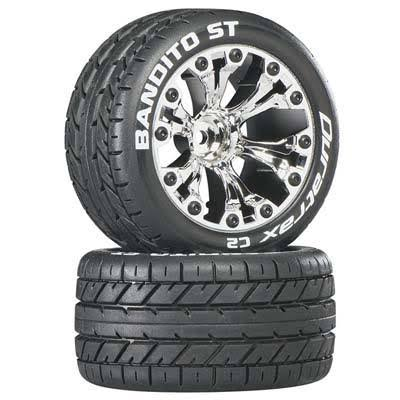 "Duratrax Bandito Stampede 4 x 4 Mounted Tires and Wheels ST - 2.8"", 2pc"