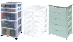Plastic Drawers On Wheels by Fabulous Storage Drawers Plastic For House Design 6 Drawer Chest