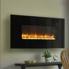 Modern Wall Mounted Fireplaces Led Mount Electric Fireplace Glass Walls Dining Room Rustic Tables Table Sets