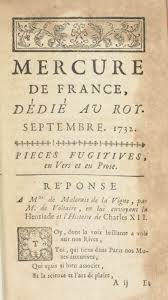 Poem Dated 15 August 1732 Sent To The Mercure De France By Voltaire