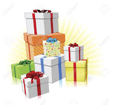 Pile of lovingly wrapped ts for Christmas Birthday or other celebration Stock Vector