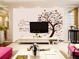 benutzerdefinierte großes wandbild schöne baum katzen tapete wohnzimmer tv hintergrund sofa wand kinderzimmer 3d wandbilder wallpaper