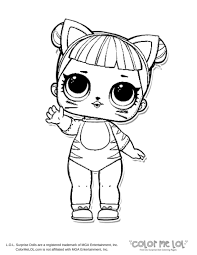 Unicorn L O Surprise Doll Coloring Page LOL Valid