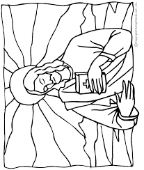 Jesus With The Bible Coloring Page