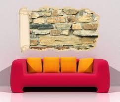 3d wandtattoo tapete steine steinmauer stein mauer durchbruch selbstklebend wandbild wandsticker wohnzimmer wand aufkleber 11o1871 wandtattoos und