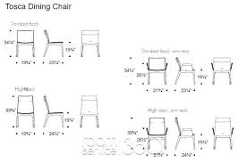 Standard Dining Room Chair Height Dimensions Delightful