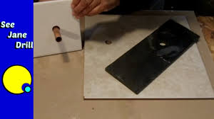 how to drill a hole in porcelain ceramic stone tile easy