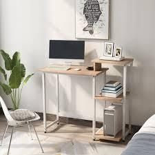 gotui schreibtisch schreibtisch computertisch pc tisch bürotisch officetisch arbeitstisch für büro wohnzimmer schule metallrahmen kaufen