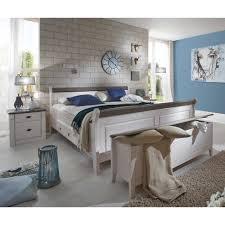 schlafzimmermöbel set in weiß grau landhausstil 4 teilig