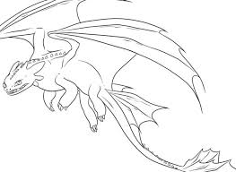 Realistic Dragon Coloring Pages