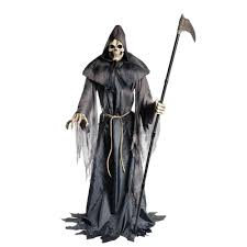 Spirit Halloween Animatronics Box by Home Accents Holiday 6 Ft Animated Lurching Reaper 5124341 The