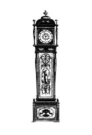 Beautiful Ornamentation Grandfather Clock Coloring Pages