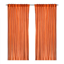 curtain decorate your home with fresh look orange curtain panels