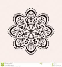 Vector Henna Ethnic Mandala Boho Tattoo Design In Doodle Style