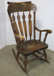 Albrecht Auctions | Older Wooden Rocking Chair, LZ Kamman Co ... Modern Old Style Rocking Chair Fashioned Home Office Desk Fding The Value Of A Murphy Thriftyfun Vintage Mid Century Large Cane Rocking Horse The Hoarde Antique Early 19thc Cedar Childs Welsh C182040 In Oak Country Fniture Ten Most Highly Soughtafter Chairs Collectors Weekly Upholstered Spring Loaded On Casters Gallery Good Bones English Victorian Mahogany Wavy Hans Wegner For Tarm Stole Teak And Wool Small Wood Carved Chair Famous His Sam Maloof Made That
