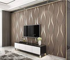 vliestapete stereoskopischer streifen 3d dunkelbraun tapete esszimmer flur schlafzimmer wohnzimmer tv hintergrund dekoration