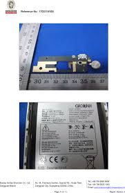 bureau tcl bt04 mobile phone teardown photos fcc tcl communication ltd