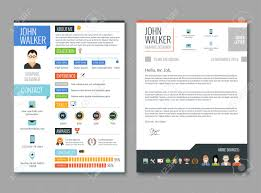 100 Resume Two Pages Job Candidate Cv Template With Work Experience