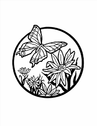 Butterflies And Print Flower Butterfly Mandala Coloring Pages Kids For Motherus Day Page Free
