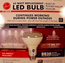 hoover cpc br30 65 watt replacement led power failure light bulb