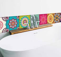 wandtattoo badezimmer marokkanische ornamente