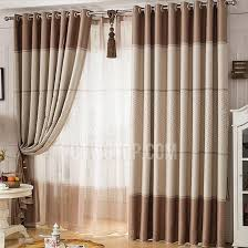 Coffee Color Polka Dots Modern Dining Room Curtains