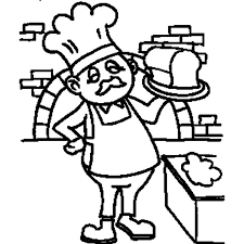 Baker With Bread On Jobs Coloring Pages