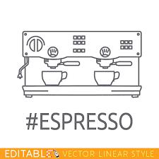 Modern Thin Line Icon Of Coffee Machine Premium Quality Outline Vector Art Illustration