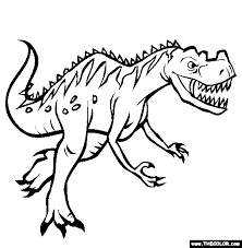 Free Dinosaur Coloring Pages Color In This Picture Of A Ceratosaurus And Others With Our Library Online Save Them Send