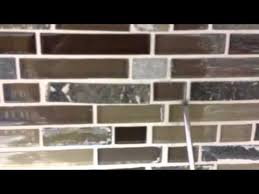 glass mosaic tile backsplash grout how to install glass tile